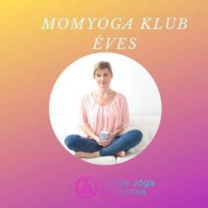MomYoga Klub éves online jóga tanfolyam