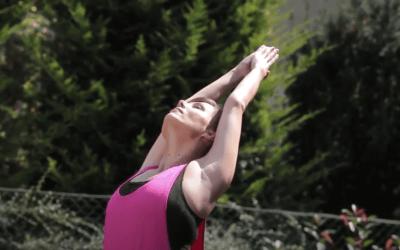 Online jóga könyvtár – Félhold – 1. variáció